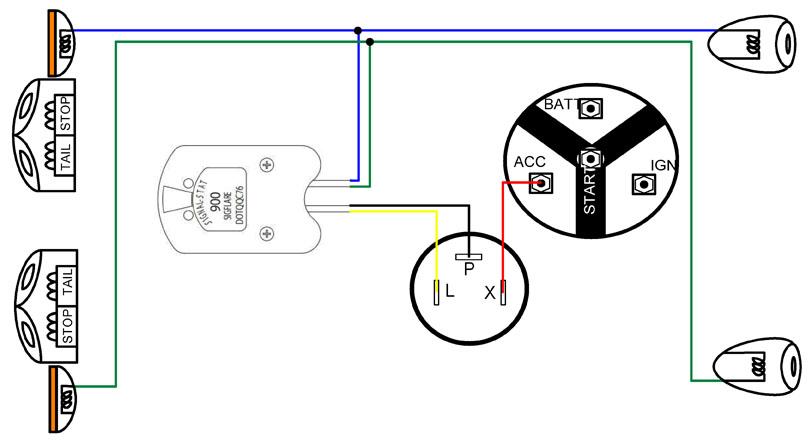 Signal-Stat 900 Sigflare Wiring Diagram from www.ynzyesterdaysparts.com